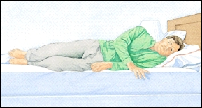 Image of man on his side in bed