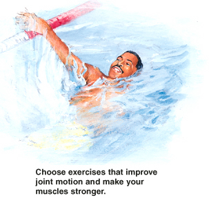 Image of man swimming